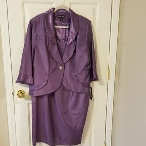 Plus size purple suit